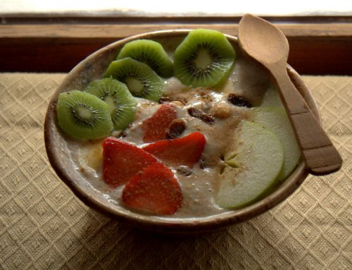 Porridge de trigo sarraceno y plátano (crudivegano)